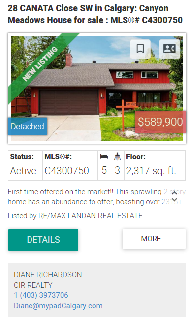 Canyon Meadows Homes for sale Calgary