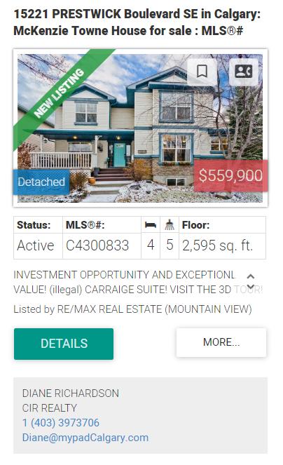 Prestwick Homes for sale Calgary